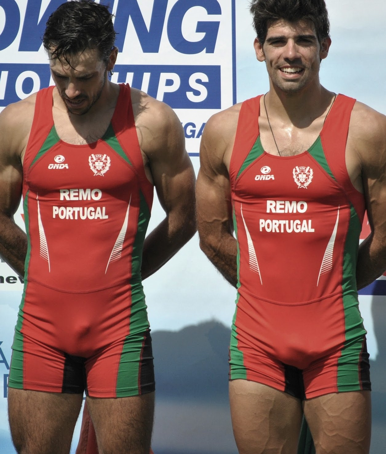 Mens Bulge Report http://www.athletesexposed.com/2011/01/08/hot-portugese-rowers-bulges/