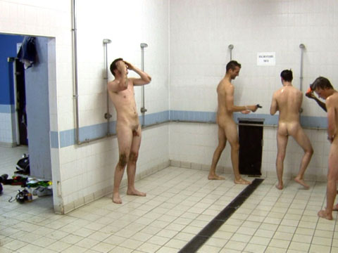 Nude athlete locker room what from