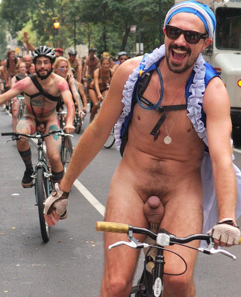 Hot Naked Cyclist